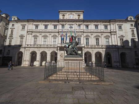 TURIN, ITALY - CIRCA MAY 2016: Palazzo di Citta meaning Town Hall