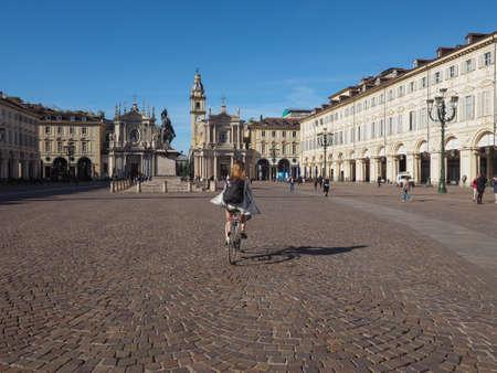 carlo: TURIN, ITALY - CIRCA MAY 2016: Piazza San Carlo square Editorial
