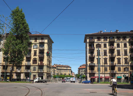 regina: TURIN, ITALY - CIRCA MAY 2016: View of Vanchiglia quarter