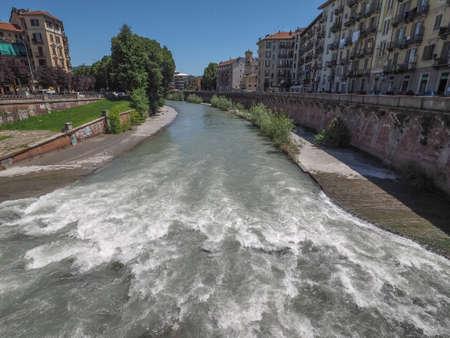 dora: Fiume Dora meaning River Dora in Turin, Italy