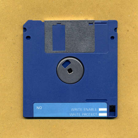 Floppy disk: Magnetic diskette for personal computer data storage aka floppy disk Stock Photo