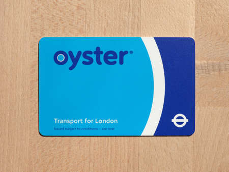 ticketing: LONDON, UK - CIRCA MAY 2016: The Oyster Card uses near field communication technology for public transport ticketing