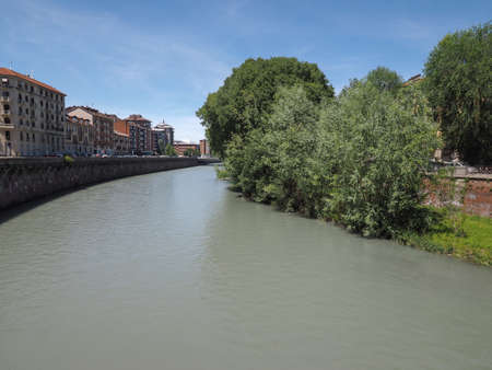 Fiume Dora meaning River Dora in Turin, Italy