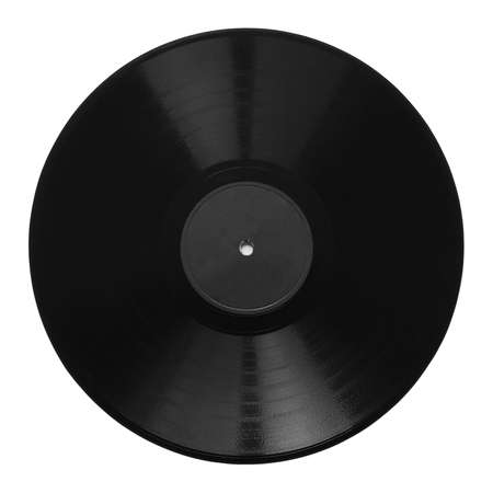 Vintage 78 rpm music record isolated over white with grey label