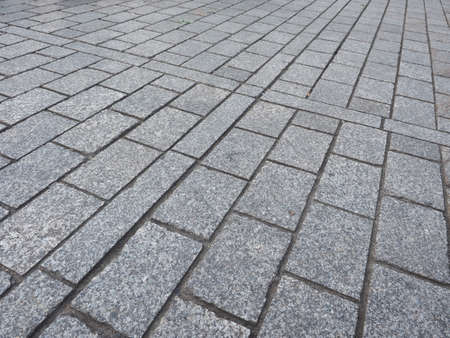 piso piedra: suelo de piedra gris útil como fondo Foto de archivo
