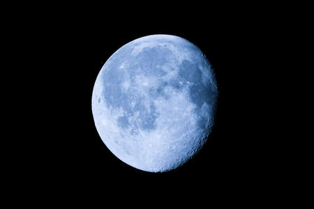 almost: Waning gibbous moon, almost full moon, seen with an astronomical telescope
