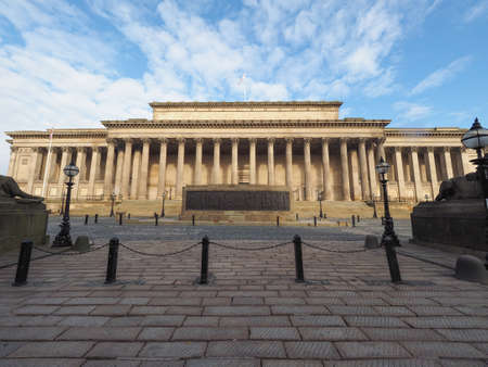 lancashire: St George Hall concert halls and law courts on Lime Street in Liverpool, UK