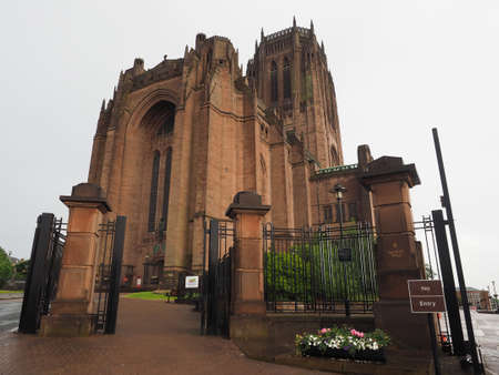 lancashire: Liverpool Cathedral aka Cathedral Church of Christ or Cathedral Church of the Risen Christ on St James Mount in Liverpool, UK
