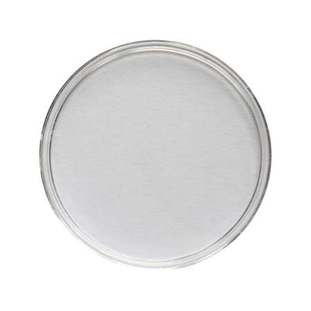 mosses: A Petri dish (aka Petrie dish, Petri plate or cell culture dish) cylindrical glass or plastic lidded dish used to culture cells such as bacteria or mosses - isolated over white Stock Photo
