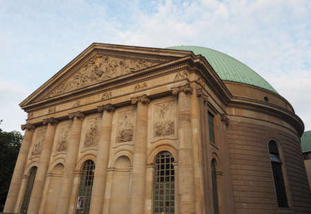 st german: St Hedwigs kathedrale (meaning cathedral) in Bebelplatz in Berlin, Germany Stock Photo