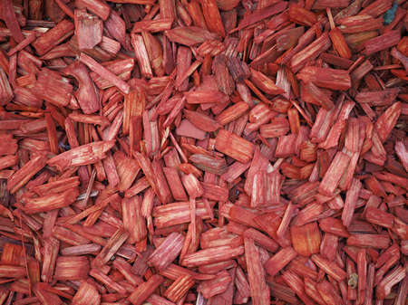 wood chip: Red wood chip texture useful as a background