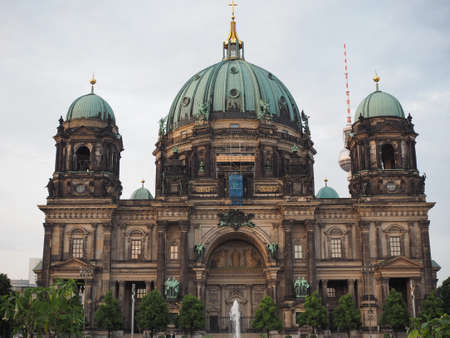 dom: Berliner Dom meaning Berlin Cathedral church in Berlin, Germany