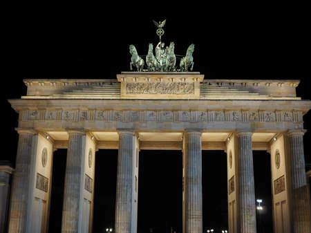 brandenburger tor: Brandenburger Tor meaning Brandenburg Gate in Berlin, Germany at night