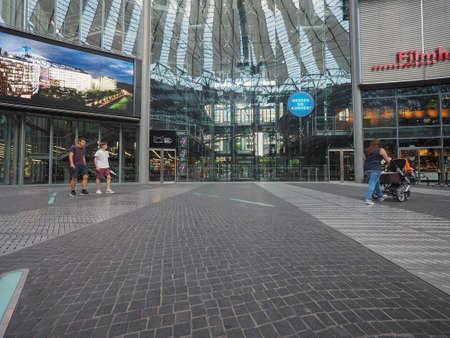 sony: BERLIN, GERMANY - CIRCA JUNE 2016: Sony Center in Potsdamer Platz designed by Helmut Jahn
