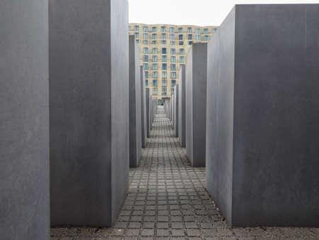 jews: BERLIN, GERMANY - CIRCA JUNE 2016: Denkmal fuer die ermordeten Juden Europas meaning Holocaust Memorial to the Murdered Jews of Europe Editorial