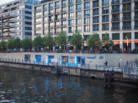 republik: BERLIN, GERMANY - CIRCA JUNE 2016: DDR museum on the bank of Spree river