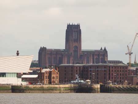 gilbert: LIVERPOOL, UK - CIRCA JUNE 2016: Liverpool Cathedral aka Cathedral Church of Christ or Cathedral Church of the Risen Christ on St James Mount