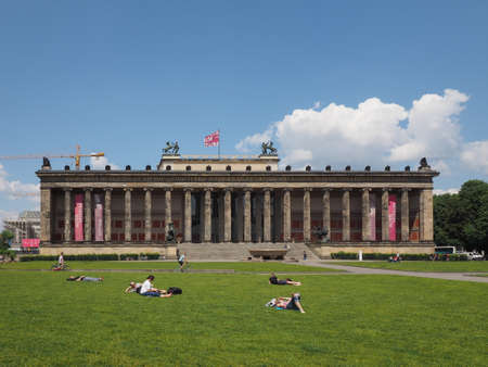antiquities: BERLIN, GERMANY - CIRCA JUNE 2016: Altes Museum (meaning Museum of Antiquities) in Museumsinsel (meaning Museums Island) Editorial