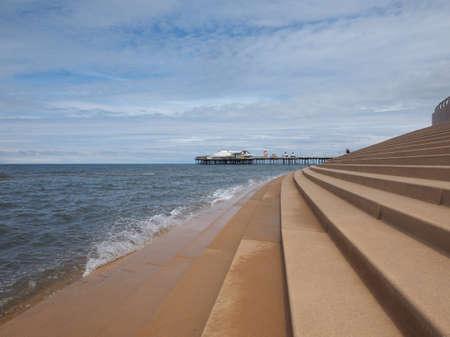 lancashire: BLACKPOOL, UK - CIRCA JUNE 2016: Blackpool Pleasure Beach resort amusement park on the Fylde coast in Lancashire