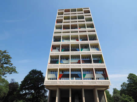 BERLIN, GERMANY - CIRCA JUNE 2016: The Corbusier Haus designed by Le Corbusier in 1957 Redakční