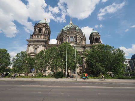 dom: BERLIN, GERMANY - CIRCA JUNE 2016: Berliner Dom meaning Berlin Cathedral church �ditoriale
