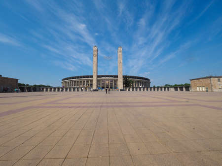 olympic stadium: BERLIN, GERMANY - CIRCA JUNE 2016: Olympiastadion (meaning Olympic Stadium)