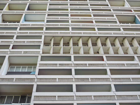 rationalist: BERLIN, GERMANY - CIRCA JUNE 2016: The Corbusier Haus designed by Le Corbusier in 1957 Editorial
