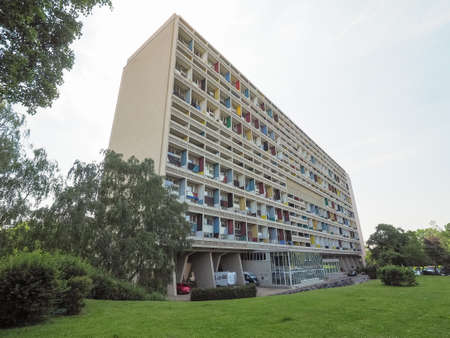 uniting: BERLIN, GERMANY - CIRCA JUNE 2016: The Corbusier Haus designed by Le Corbusier in 1957 Editorial