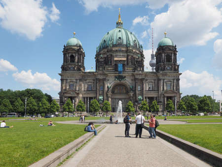 dom: BERLIN, GERMANY - CIRCA JUNE 2016: Berliner Dom meaning Berlin Cathedral church Editorial