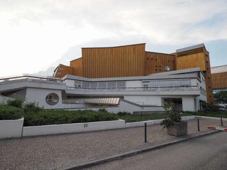 hans: BERLIN, GERMANY - CIRCA JUNE 2016: The Berliner Philharmonie concert hall designed by German architect Hans Scharoun in 1961 Editorial