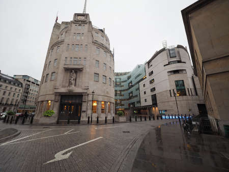 bbc: LONDON, UK - CIRCA JUNE 2016: BBC Broadcasting House headquarters of the British Broadcasting Corporation in Portland Place