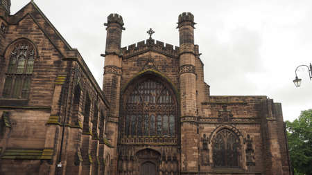 Chester Anglican Cathedral church in Chester, UK Stock Photo