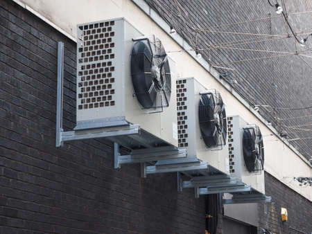 splitter: An heating ventilation and air conditioning device Stock Photo