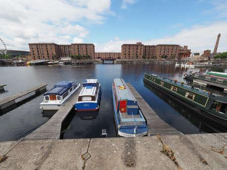 lancashire: LIVERPOOL, UK - CIRCA JUNE 2016: The Albert Dock  and Salthouse Dock Editorial