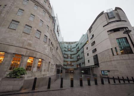 headquarters: LONDON, UK - CIRCA JUNE 2016: BBC Broadcasting House headquarters of the British Broadcasting Corporation in Portland Place