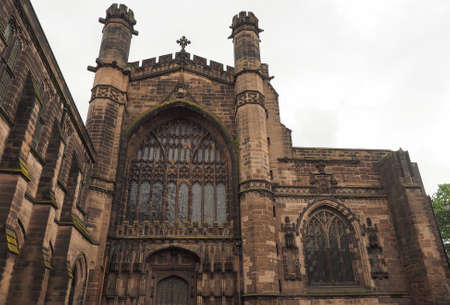 chester: Chester Anglican Cathedral church in Chester, UK Stock Photo