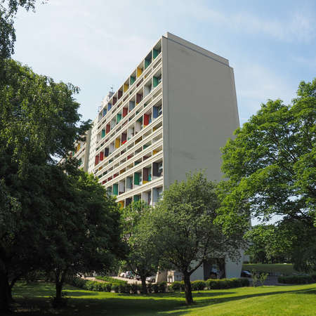 rationalism: BERLIN, GERMANY - CIRCA JUNE 2016: The Corbusier Haus designed by Le Corbusier in 1957 Editorial