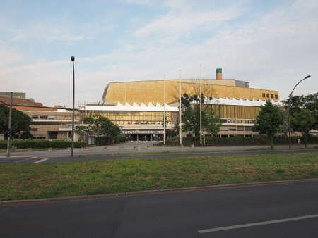 hans: BERLIN, GERMANY - CIRCA JUNE 2016: Staatsbibliothek zu Berlin (meaning Berlin State Library) designed by architect Hans Scharoun Editorial