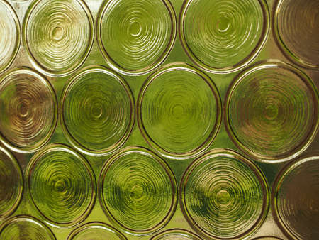 greenery: Greenery seen through decorated glass useful as a background Stock Photo