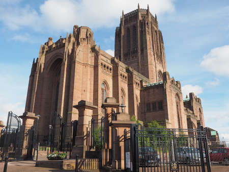 gilbert: Liverpool Cathedral aka Cathedral Church of Christ or Cathedral Church of the Risen Christ on St James Mount in Liverpool, UK