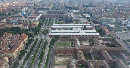 nuove: Aerial view of the city centre of Turin, Italy