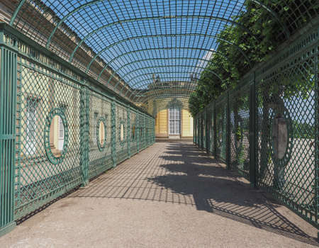 frederick: POTSDAM, GERMANY - CIRCA JUNE 2016: Schloss Sanssouci royal summer palace of Frederick the Great King of Prussia Editorial