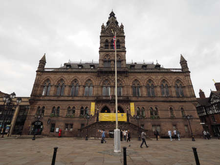 municipal editorial: CHESTER, UK - CIRCA JUNE 2016: Chester Town Hall Editorial
