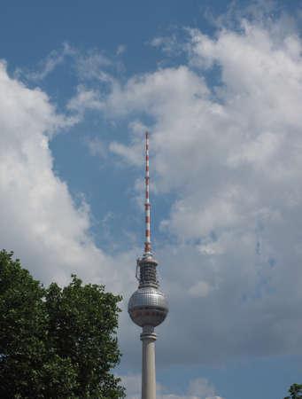 republik: BERLIN, GERMANY - CIRCA JUNE 2016: Fernsehturm (meaning Television tower) in Alexanderplatz Editorial