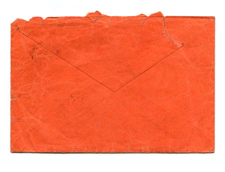 letter envelope: Vintage red letter envelope for mail postage