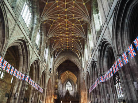 anglican: CHESTER, UK - CIRCA JUNE 2016: Chester Anglican Cathedral church