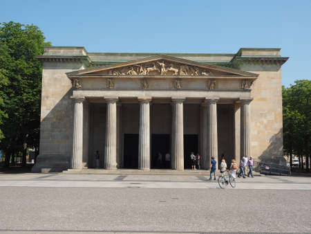 dictatorship: BERLIN, GERMANY - CIRCA JUNE 2016: Neue Wache (meaning New Guardhouse) Central Memorial of the Federal Republic of Germany for the Victims of War and Dictatorship