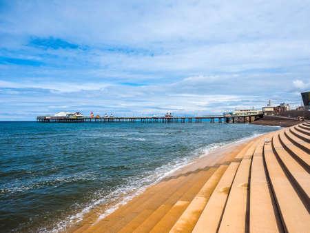 lancashire: BLACKPOOL, UK - CIRCA JUNE 2016: Blackpool Pleasure Beach resort amusement park on the Fylde coast in Lancashire - high dynamic range Editorial