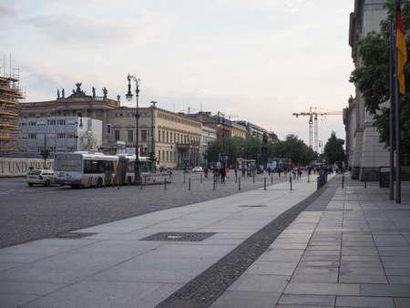 den: BERLIN, GERMANY - CIRCA JUNE 2016: Unter den Linden boulevard