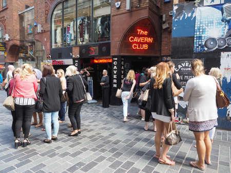 played: LIVERPOOL, UK - CIRCA JUNE 2016: The Cavern Club nightclub at 10 Mathew Street where The Beatles played